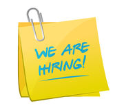 We are hiring memo post illustration design Royalty Free Stock Photography