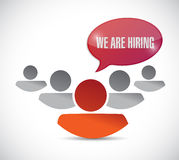 We are hiring message and team. illustration Royalty Free Stock Photos