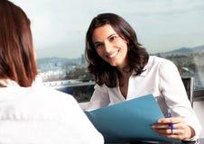 Hiring an new employee Royalty Free Stock Photo