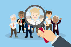 Hiring new people. Finding new staff for work Royalty Free Stock Photo