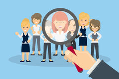 Hiring new people. Finding new staff for work Royalty Free Stock Images