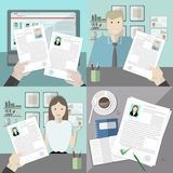 Hiring new people set. Stock Images