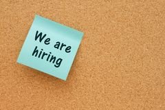 We are hiring notice Stock Images
