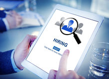 Hiring Occupation Recruitment Headhunting Jobs Concept Stock Photo