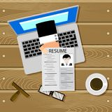 Hiring online top view Royalty Free Stock Photos