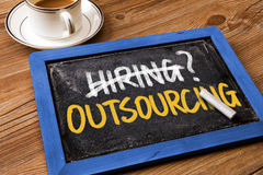 Hiring or outsourcing concept Stock Photography