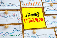 Hiring or outsourcing concept Stock Images