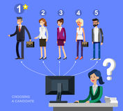 Hiring process concept with candidate selection Stock Photo