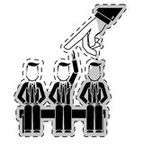 hiring process human resources icon image Stock Photos