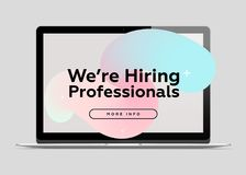 We are Hiring Professionals. Creative Business Concept. Stock Images