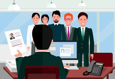 Hiring Recruiting Interview Royalty Free Stock Photo