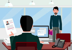 Hiring Recruiting Interview Royalty Free Stock Image