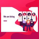 Hiring and recruitment concept for web page, banner, presentation. stock illustration