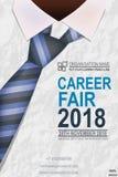 Hiring recruitment design poste with tie. stock illustration