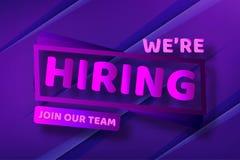 Hiring recruitment design poster. Vector illustration. Open vacancy design template.. vector illustration