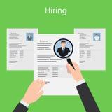 Hiring and resume illustration Royalty Free Stock Image