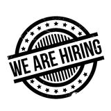 We Are Hiring rubber stamp Stock Images