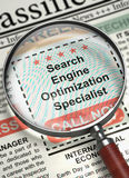 We are Hiring Search Engine Optimization Specialist. 3D. Stock Photography