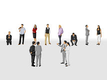 Hiring selection. Template for advertising brochure with group of business people choosing the right person. Hiring selection Stock Photos