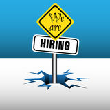 We are hiring signpost Stock Photos