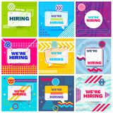 We are Hiring Template stock illustration
