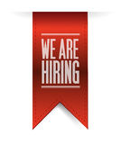 We are hiring textured banner illustration design Royalty Free Stock Photography