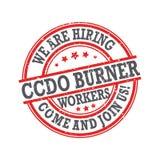 We are hiring topman burner - grunge rubber stamp / label royalty free illustration