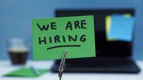 We are hiring Stock Photo