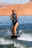Hirl Wakeboarder στη λίμνη Powell Στοκ Φωτογραφίες