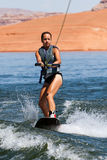 Hirl Wakeboarder au lac Powell Photos stock