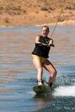 Hirl Wakeboarder en el lago Powell Imagen de archivo