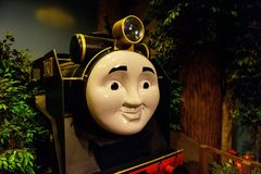 Hiro在托马斯土地的火车模型 库存照片