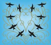 Hirondelles dans le ciel Photo libre de droits