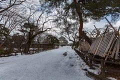 Hirosaki Castle during winter, Aomori, Japan. Hirosaki ,Aomori prefecture ,Tohoku area / Japan - jan/10/2018 : Hirosaku Castle famous travels destination of Stock Images