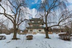 Hirosaki Castle during winter, Aomori, Japan. Hirosaki ,Aomori prefecture ,Tohoku area / Japan - jan/10/2018 : Hirosaku Castle famous travels destination of Royalty Free Stock Image