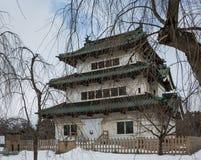 Hirosaki Castle during winter, Aomori, Japan. Hirosaki ,Aomori prefecture ,Tohoku area / Japan - jan/10/2018 : Hirosaku Castle famous travels destination of Royalty Free Stock Images