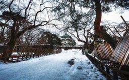 Hirosaki Castle during winter, Aomori, Japan. Hirosaki ,Aomori prefecture ,Tohoku area / Japan - jan/10/2018 : Hirosaku Castle famous travels destination of Royalty Free Stock Photo