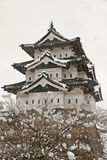 Hirosaki Castle in winter Royalty Free Stock Photo