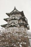 Hirosaki kasztel w zimie Zdjęcie Royalty Free