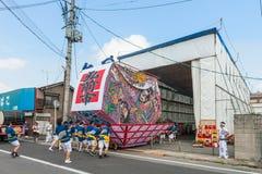 Hirosaki Neputa (Fan-shaped float) festival. Stock Image