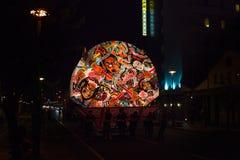 Hirosaki Neputa (Fan-shaped float) festival in Japan. Royalty Free Stock Images