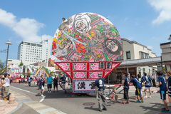 Hirosaki Neputa (Fan-shaped float) festival in Japan. Royalty Free Stock Photography