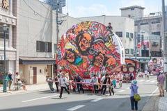 Hirosaki Neputa (Fan-shaped float) festival in Japan. Royalty Free Stock Photos