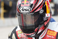 Hiroshi Aoyama - Honda CBR1000RR stock photography