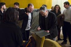 Hiroshi Sugimoto, berömd fotograf och konstnär, i Florence, Italien Arkivfoton