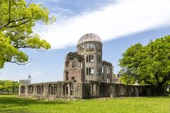 Hiroshima atomic bomb dome park in Japan Asia. Hiroshima atomic bomb dome park in Japan stock image