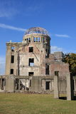 Hiroshima A-bomb Dome. Second world war ruins of A-bomb dome, unesco world heritage in Hiroshima, Japan Royalty Free Stock Photography