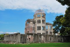Hiroshima A-Bomb Dome Royalty Free Stock Images