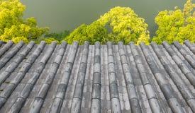 Hiroshima castle. Close up roof of Hiroshima castle Royalty Free Stock Photography