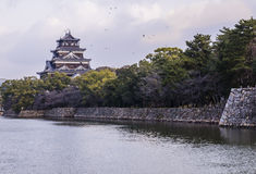 Hiroshima castle Stock Photos
